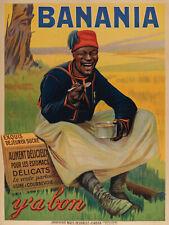 Affiche Originale - Giacomo de Andreis - Banania - Tirailleur - Boisson - 1915