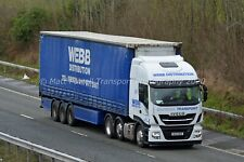 Truck Photo 12x8 - Iveco Stralis - Webb Distribution - WD19 WEB