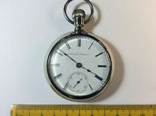 Elgin Open Face Silver Pocket Watch 18s 7J 1904  Working