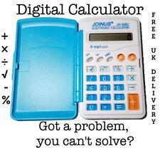 Small Pocket blue Calculator basic Handheld School College uni maths slim UK