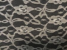 "Allover White Floral Lace - Sold by the Yard - 60"" Wide - $4.00 per yd."
