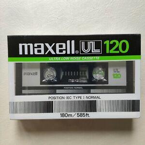 Cassette  K7 audio  MAXELL 120  min Type I  UL 120 NEUVE NEW   vierge
