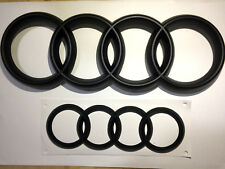 Set of Front and Rear Matte Black Badge For Audi A3 A4 S3 S4 RS3 RS4 2013 - 2018