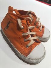 Ralph Lauren Polo Genuine Suede Leather Girl Boy Baby Size 4 Shoes Sneakers