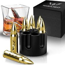 Metal Whiskey Stones 6 Steel Whiskey Rocks   Metal Ice Cubes to Chill Bourbon,