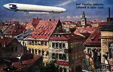 """Zeppelin, """"Graf Zeppelins lenkbares Luftschiff in voller Fahrt"""", Verlag TSN"""