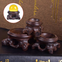 Black Crystal Ball Holder Wood Display Stand Base For Crystal Ball Home DecoIHS
