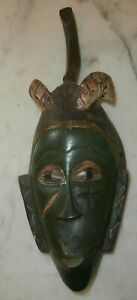 antica maschera tribale africana 37 cm dipinta a mano