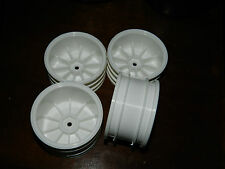 lot 4 jantes TAMIYA roue PNEUS blanche WHEELS white 60-54-24-30-29-35 tyres RC