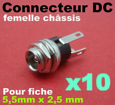 947M/10# Prise femelle châssis 2,5 x 5,5mm DC jack 10 pcs