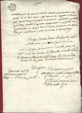 Anico Manoscritto Massa Fiscaglia Cambio di Proprietà 1809 Napoleone in Italia