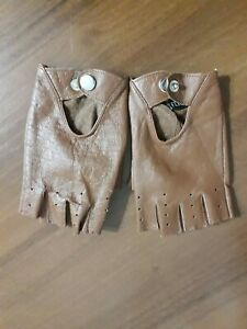 Ladies' Cropped Finger Leather Gloves