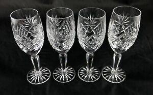 Four stunning vintage lead crystal port sherry liqueur toasting glasses