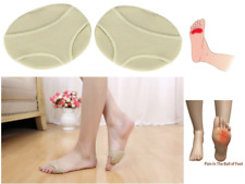 2x Fabric + Gel Metatarsal Pads Ball of Foot Gel Pads Cushions Morton's Neuroma
