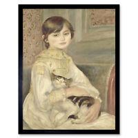Auguste Renoir Julie Manet Art Print Framed 12x16