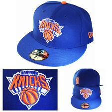 New Era NBA new York Knicks 5950 Blue Fitted Hat Grey Under Brim Classic Cap