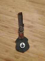 Antique Masonic Knight Watch Fob Medal Pendant Enamel and Leather Shield 1900s