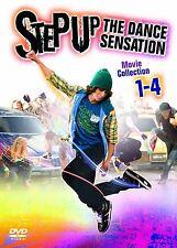 STEP UP 1-4 COMPLETE DVD BOX SET NEW 1 2 3 4 THE DANCE SENSATION