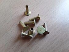 5/32 x plat 9/16 Pan Head Semi Hollow Brass Brake Clutch B/82 Rivet Qté 8