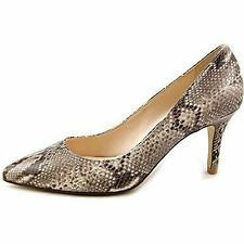 Cole Haan Womens Juliana Sneak Print Leather Pump Heels Shoes Natural 8 NEW