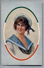 VILLANI Donnina Marina Italiana Glamour Girl PC Circa 1916