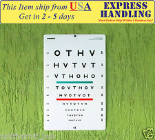 HOTV Ophthometric Chart with Red/Geen Lines 10 Ft Ship from USA