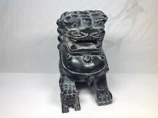 Chinese Black Jade Temple Guardian Lion