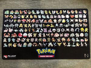 Pokemon Original Indigo League 151 Vintage Kanto Playmat Charizard Pikachu