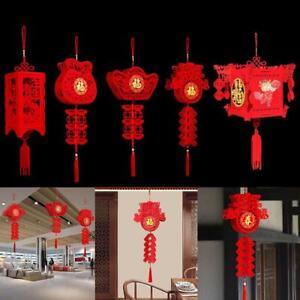 Chinese New Year Red Paper Lanterns Hang Lantern Hanging Decoration