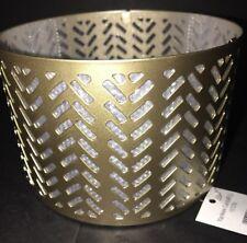 YANKEE CANDLE SS Arrow P2 Metal Jar Shade For Medium/Large NWT