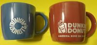 Dunkin' Donuts 2014 DD Iridescent Red and Blue Doughnut Coffee Mug / Tea Cup Set