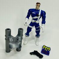 1995 Toy Biz Spider-Man Nick Fury Action Figure w/Jet Pack, Gun & Pin (AF)
