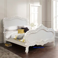 UK Small Double 120x190cm White French style Rococo bed ~  TOP QUALITY