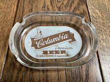 Rare Vintage Columbia Premium Beer Glass Ashtray