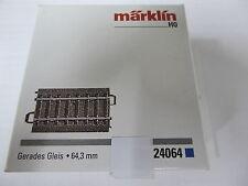 Märklin HO 24064 C Gleis Gerades Gleis Länge 64,3mm Neuware