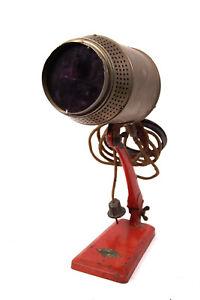 Art Déco Grandiosa Rotlicht Lampe Strahler DDR Bauhaus Richter Radebeul Loft
