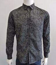 Neu- Imperial - Hemd Langarm- Gr. S italienische Mode mit Muster in schwarz grau