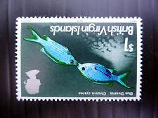 BRITISH VIRGIN ISLANDS 1975 - $1 Fish INVERTED/WMK Error SG343w U/M MNH FP5529