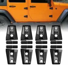 Door Hinge Cover Protector Trim Kit For Jeep Wrangler Accessories JK JKU 2007-17