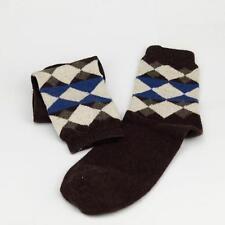 Winter Men Wool Blend Argyle Stripe Coffee Casual Dress Socks Sports SZ 10-13 o7