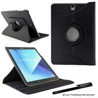 Housse Etui Noir pour Samsung Galaxy Tab S3 9.7 SM-T820 T825 Coque Support 360°