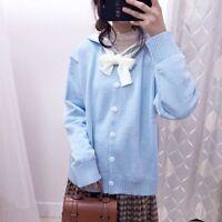 NEW Lolita Kawaii Knitting Sailor Collar Sweet Japan Mori Girl Sweaters Tops Kx5