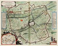 MAP ANTIQUE 1649 VAN LOON SIEGE CONQUEST AIRE LARGE REPLICA POSTER PRINT PAM0105