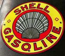 Shell old logo Gas Oil gasoline sign