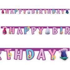 Troll Film Children's Happy Birthday Party Lettera Banner Decorativo