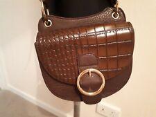 Next small Brown Cross Body saddle style Handbag New