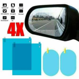 4*Car Rearview Mirror Glass Film Waterproof Anti-Fog Rain-Proof Window Membrane.
