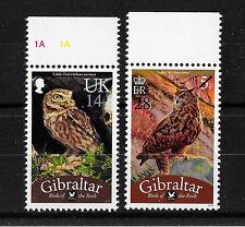 Gibraltar 2013 Bird Definitive Overprints  MNH