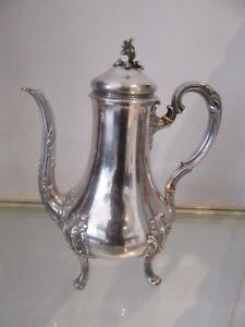 20th c french sterling silver minerve coffee pot rococo st 656gr 23,1oz Tetard