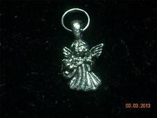 Wholesale Lot #123 Pewter Small Angel Guitar Wine Charm Pendant Earring KeyChain